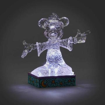 Zauberer Micky Maus Figur eisklar beleuchtet