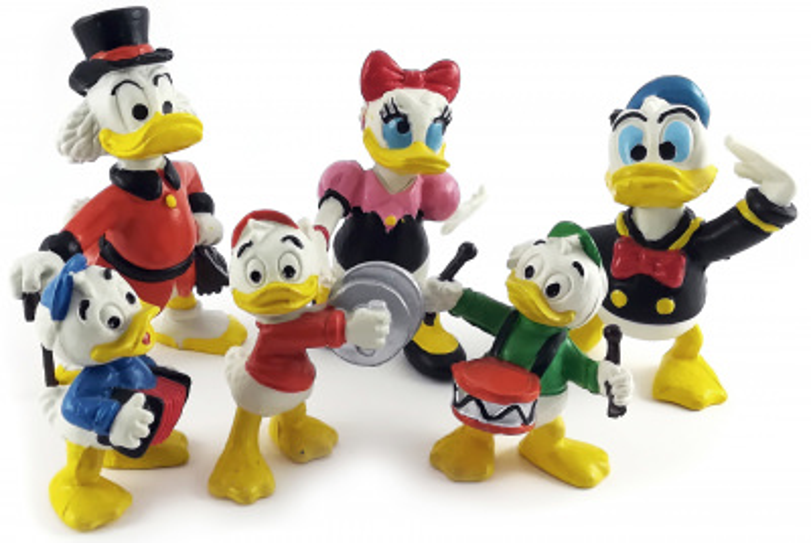 Donald, Daisy, Dagobert, Tick, Trick, Track (6er Satz) COMICS SPAIN 1984