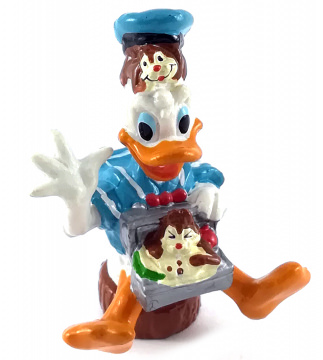 Donald Duck mit Picknick-Korb und Backenhörnchen APPLAUSE Figur