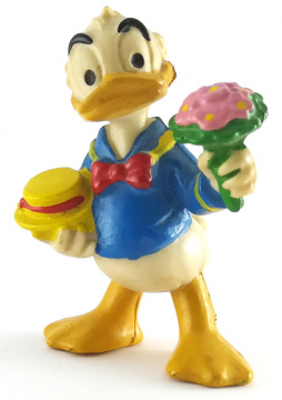 Donald Duck mit Blumenstrauß BULLY Figur