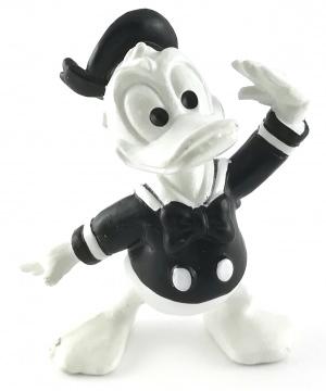 Donald Duck grüßend BULLY Kleinfigur schwarz-weiß