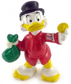 Dagobert Duck mit Geldsack BULLY Minifigur
