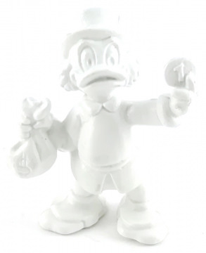 Dagobert Duck mit Geldsack BULLY Minifigur (weiß)