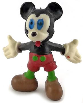 Micky Maus mit ausgebreiteten Armen HEIMO Kleinfigur 5cm (Var.: rote Hose, grüne Beine)