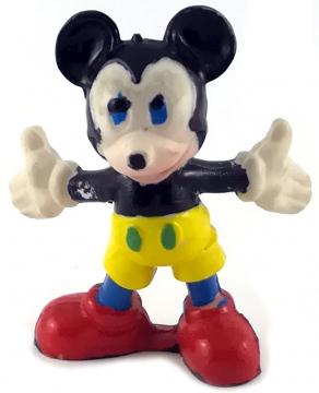 Micky Maus mit ausgebreiteten Armen HEIMO Kleinfigur 5cm (Var.: gelbe Hose, blaue Beine)
