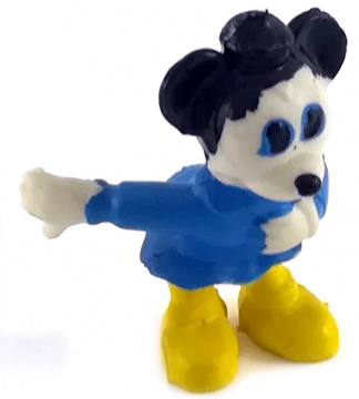 Micky Maus Neffe HEIMO Kleinfigur 3,6cm