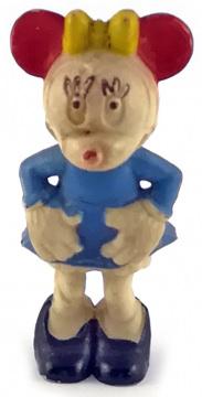 Minni Maus HEIMO Kleinfigur 5cm (Var.: blauer Rock)