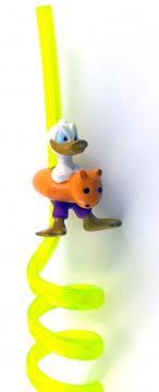 Strohhalm mit Aufsatz Donald Duck Schwimmring APPLAUSE Plastik