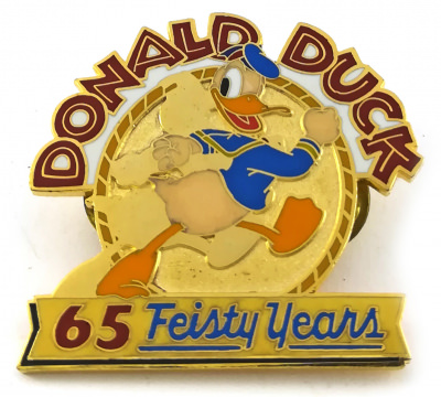 Anstecker Donald Duck 65 Feisty Years