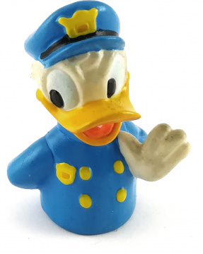 Fingerfigur Donald Duck Polizei APPLAUSE