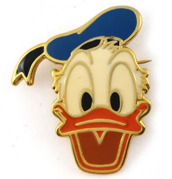 Anstecker Donald Duck lachend 4cm