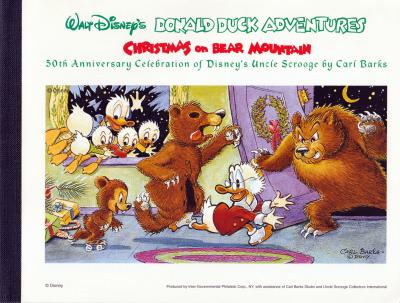 Briefmarkencomic Christmas on Bear Mountain