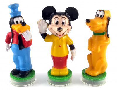 Micky, Goofy, Pluto 3 Stempel