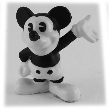 Micky Maus grüßend DISNEY STORE Kleinfigur schwarz-weiß