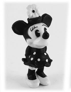 Minni Maus DISNEY STORE Kleinfigur schwarz-weiß