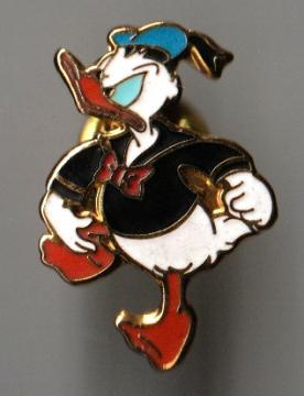 Anstecker Donald Duck wütend
