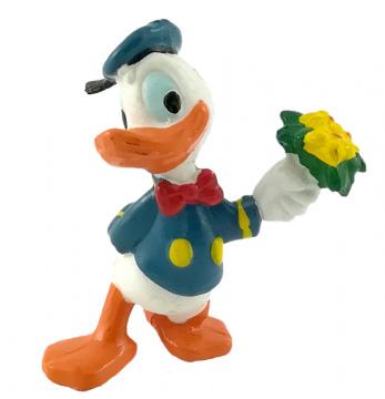 Donald Duck mit Blumenstrauß (APPLAUSE) Kleinfigur