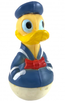 Stehaufmännchen Donald Duck Hände in Hosentaschen
