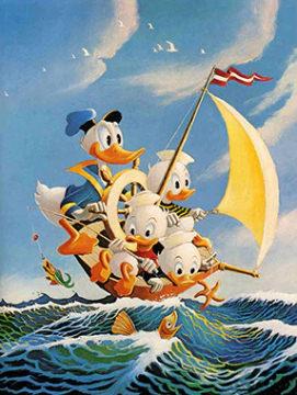 Carl Barks: Sea Cruise Canvas-Druck (gerahmt)