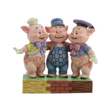 Quiekende Geschwister (Silly Symphony Drei kleine Schweinchen) Figur