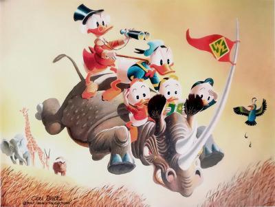 Carl Barks: Far Out Safari Canvas-Druck