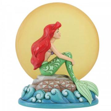 Arielle: Meerjungfrau bei Mondlicht DISNEY TRADITIONS Figur mit beleuchtbarem Mond