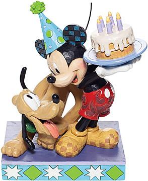 Pluto und Micky Geburtstags-Figur (DISNEY TRADITIONS)