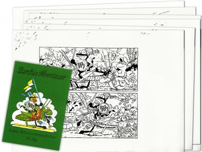 Piit: Zeichnungen zu »Lurchis Abenteuer 80. Folge« (6 Blätter + Heft)