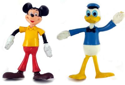 Donald & Micky 2 Biegefiguren (BRABO)
