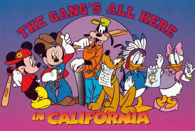 Postkarte The Gangs All Here in California
