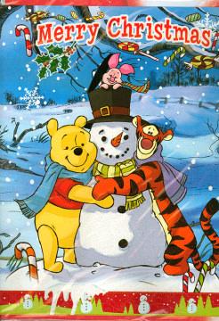 Weihnachtskarte Merry Christmas Winnie Puuh