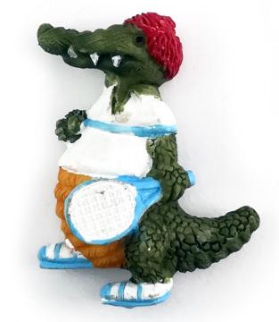 Magnet Alligator beim Tennis