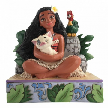 Moana mit Pua und Hei Hei: Welcome to Motunui (DISNEY TRADITIONS) Figur