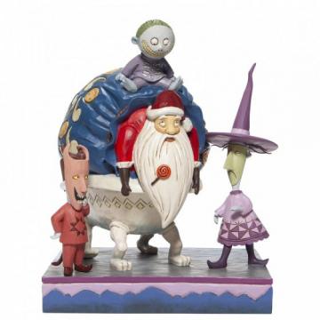 Lock, Shock und Barrel mit Santa: Bagged and Delivered (DISNEY TRADITIONS) Figur