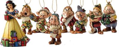 Schneewittchen und die 7 Zwerge Weihnachtsbaumhänger (8 Figuren)