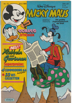 Micky Maus 13/1985 (m. Beilage / Z:2+)