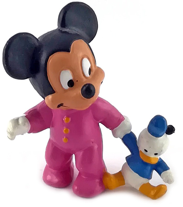 Mickey Baby with Donald Puppet BULLY Figure (pink)