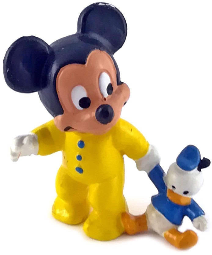 Mickey Baby with Donald Puppet BULLY Figure (yellow)