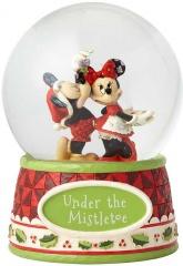 Micky & Minni Maus Unter dem Mistelzweig Schneekugel