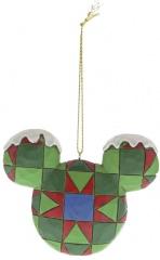 Micky Maus Kopf Weihnachtsbaumhänger Set