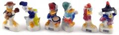 Donald Duck Porzellanfigürchen (6er Satz)