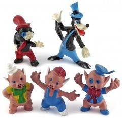 Drei kleine Schweinchen, Ede Wolf, Kleiner Böser Wolf HEIMO Kleinfiguren (5er Set)