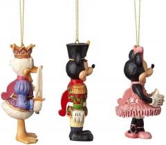 Nußknacker Weihnachtsbaumhänger Set (Donald, Micky, Minni)