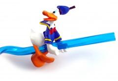 Strohhalm mit Aufsatz Klettermaxe Donald Duck DISNEYLAND Plastik