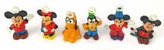 Micky und Freunde 6 Minifiguren mit Öse