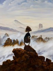 Poster Der Wanderer über dem Nebelmeer INTERDUCK