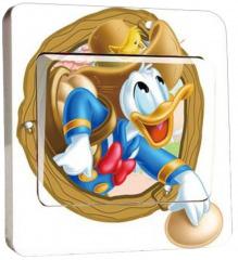 Lichtschalter-Sticker Donald Duck