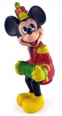 Zirkus-Micky mit Harmonika Sitzfigur