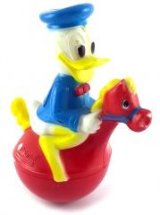 Stehaufmännchen Donald Duck auf Pferdchen