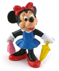 Minnie Mouse with Umbrella and Bag BULLY Small Figure
